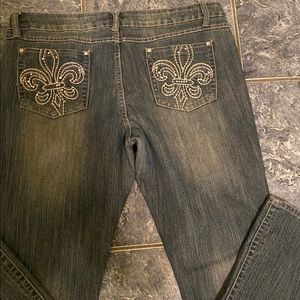 Mudd embellished stretchy jeans